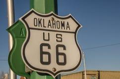 Oklahoma USA 66 tecken Fotografering för Bildbyråer