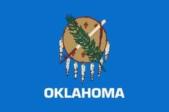 Oklahoma USA tillståndsflagga arkivfoton