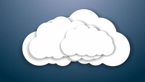 oklarhet smartphonen surfar på molnet i himmel Internetlagringsbegrepp royaltyfri illustrationer
