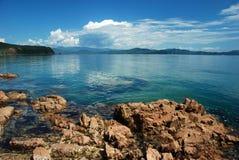 oklarheter över havet Royaltyfri Foto