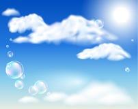 Oklarheter och bubblor royaltyfri illustrationer