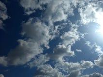 oklarheter räknade skyen royaltyfri bild