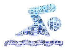oklarheter som simmar text vektor illustrationer