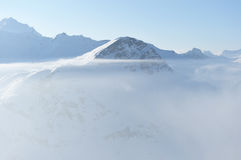 oklarhetsberg snow vintern Arkivbilder
