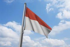 oklarhetsflagga indonesia Arkivbild