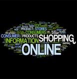 oklarhetsonline-shoppingord Arkivbilder