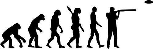Oklepiec strzelaniny ewolucja ilustracja wektor