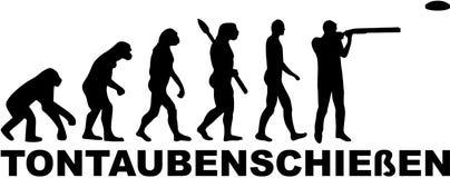 Oklepiec strzelaniny ewolucja z niemieckim słowem ilustracji