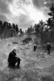 Okna, Ceska Lipa区,捷克共和国- 2017年10月13日:这次摄影查寻的作者秋季Macha ` s某一场面  图库摄影