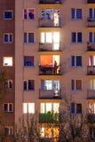 Okno blok mieszkaniowy Zdjęcia Royalty Free