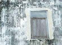 Okno ściana z brudem zdjęcia royalty free