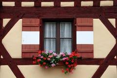 Okno dekorujący z kwiatem w Nuremberg Zdjęcie Stock
