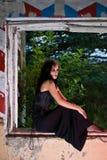 okno goth kobieta zdjęcia royalty free