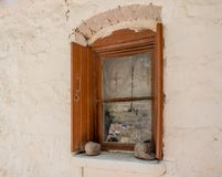 Okno Greckokatolicki kościół fotografia stock