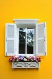 Okno i kwiatu pudełko Zdjęcia Stock