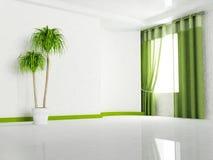 Okno i roślina ilustracji