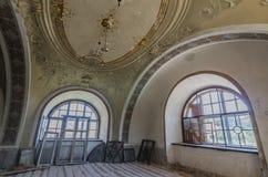 Okno i sufit w kasztelu zdjęcie royalty free