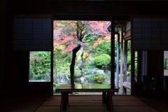 Okno jesień Fotografia Royalty Free
