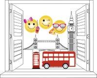 Okno Londyn ilustracja wektor