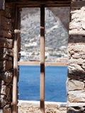 Okno morze zdjęcia royalty free