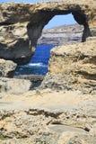 Okno morze Fotografia Stock