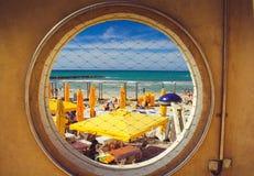 Okno morze śródziemnomorskie Obrazy Stock