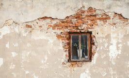 Okno na ścianie Zdjęcia Royalty Free