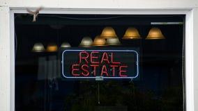 Okno nieruchomości agencja obraz stock