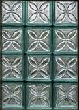 Okno od szklanych bloków Zdjęcia Stock