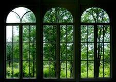 okno ogrodu zdjęcie royalty free