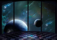 Okno przestrzeń Obrazy Stock