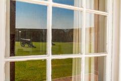 Okno przy fortem Pulaski Zdjęcia Stock