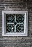 Okno przy Tai Fu Tai dom przodka, Hong Kong Chiny obrazy stock
