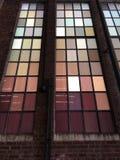 Okno przy Wysokiej linii parkiem w newyork Obraz Stock