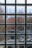 Okno robić przejrzyści szkło kwadraty i czarne części między fotografia royalty free