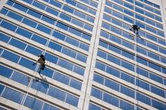 okno sprzątaczy Obrazy Stock