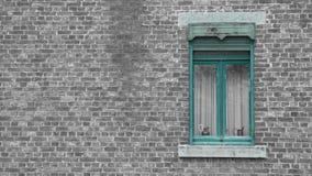 Okno stary dom w rochefort zdjęcia stock