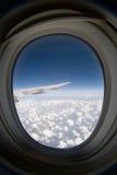 okno statku powietrznego Fotografia Royalty Free