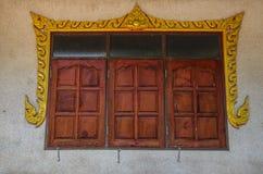Okno Tajlandzka świątynia Fotografia Royalty Free