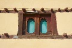Okno tradycyjny etiopczyka dom, Adwa, Etiopia Zdjęcie Stock