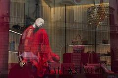 Okno Valentino butik w Rzym Zdjęcie Stock