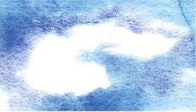 Okno w akwareli niebie Obraz Stock