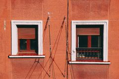 Okno w budynku i fasady obrazy stock