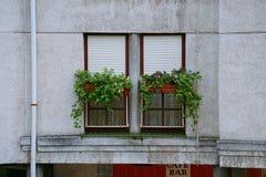 Okno w budynku i fasady zdjęcie stock