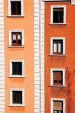 Okno w budynku i fasady obraz royalty free