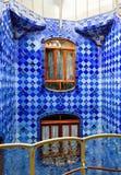 Okno w Casa Batlo korytarzu Zdjęcia Royalty Free