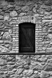 Okno w czarny i biały ioanna papanikolaou Zdjęcia Royalty Free
