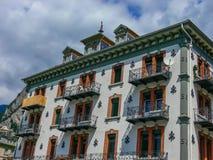 Okno w Interlaken, w Szwajcaria obraz royalty free