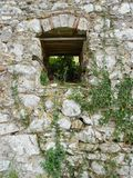 Okno - w kamieniu Obrazy Royalty Free