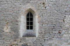Okno w kamiennej ścianie antyczny monaster zdjęcia royalty free